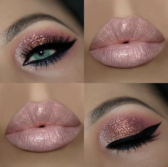 ? LOVE THIS BABY SOFT PINK LIPS AND SHIMMERY EYES ? ??#moisturizing …
