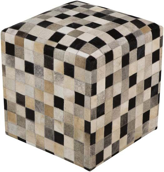 Hair on Hide Ottoman 2044 Western Ottomans - Floor cushion created with a  checkerboard patchwork of - 94 Best Western Ottomans Images On Pinterest Ottomans, Leather