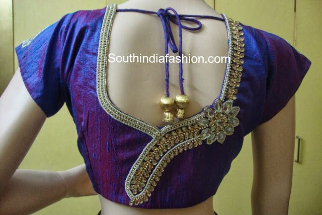 Maggam Work Bridal Saree Blouse Designs