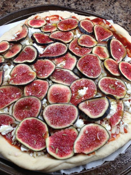 Fig and goat cheese pizza | Foooood! | Pinterest