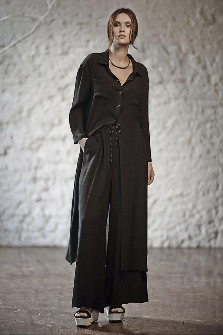 Купить РУБАШКА ДЛИННАЯ ГОФРЕ от Lesel (Лесель) российский дизайнер одежды