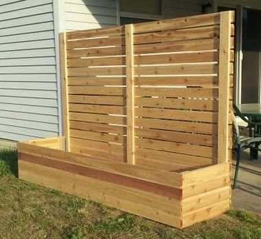 Best 25 fence planters ideas on pinterest small for Privacy planter ideas