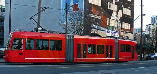 Officially, it is known as the South Lake Union line of the Seattle Streetcar. However, it is unofficially known as the South Lake Union Transit or S.L.U.T. #southlakeunion #seattle