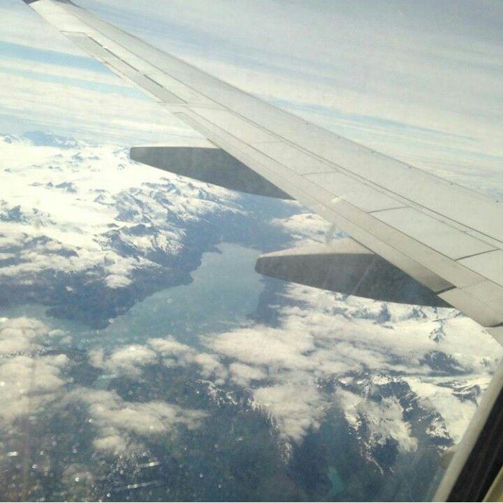 Alaska from a plane