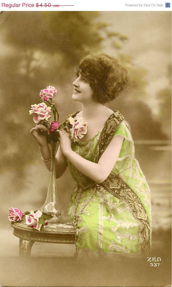 Colored edwardian postcards 2 sexy miss fernande 2