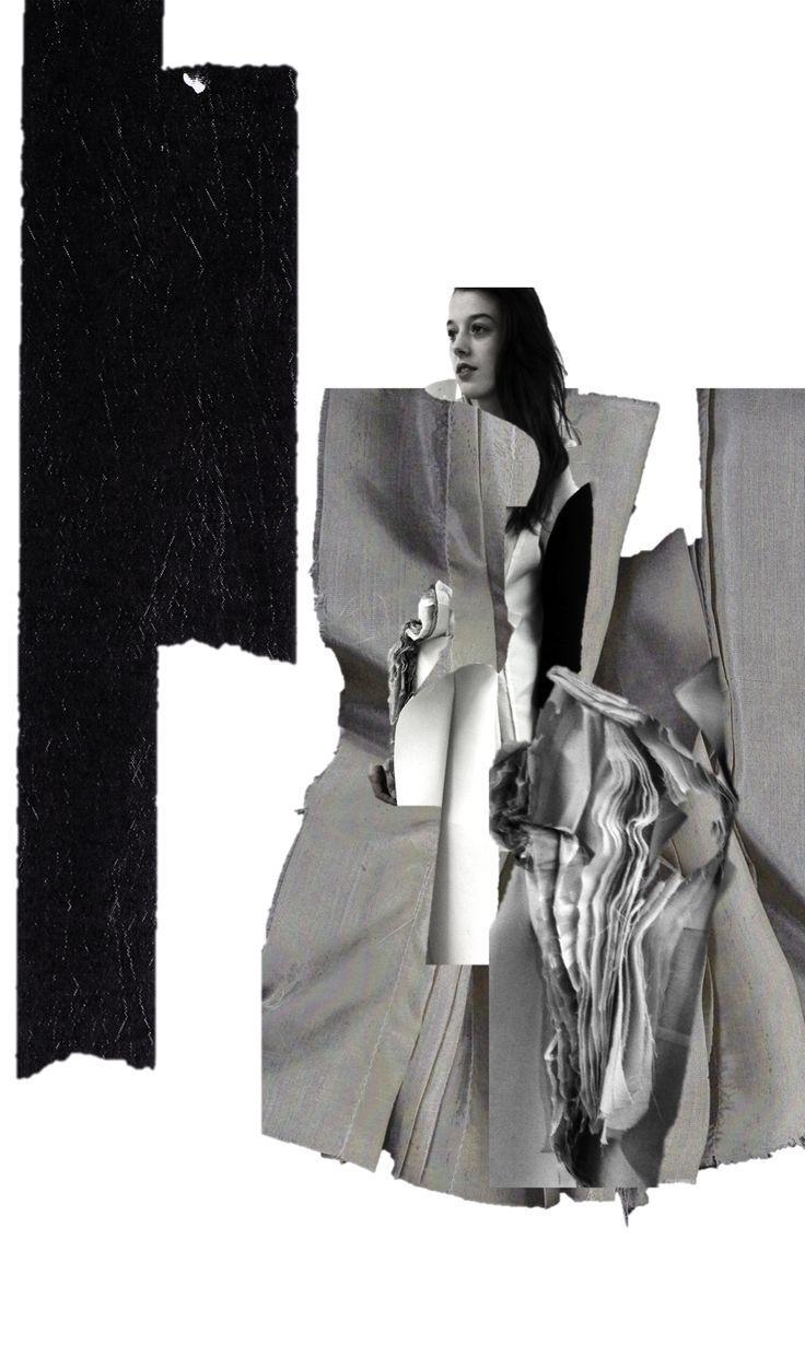 Fashion Sketchbook - fashion illustration; creative collage; fashion design portfolio // Connie Blackaller: