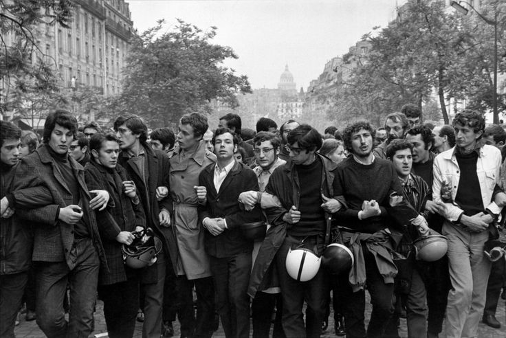 Henri Cartier-Bresson, Student demonstration, Paris, France, May 1968
