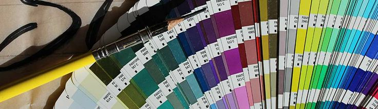 Pantone, RGB, CMYK and HEX color chart.