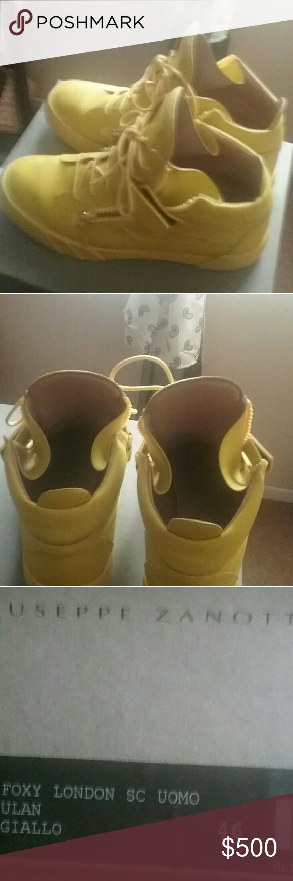 Giuseppe Zanotti Mens Sneakers Size 46. Mustard yellow with original box and will dustbag Giuseppe Zanotti Shoes Sneakers