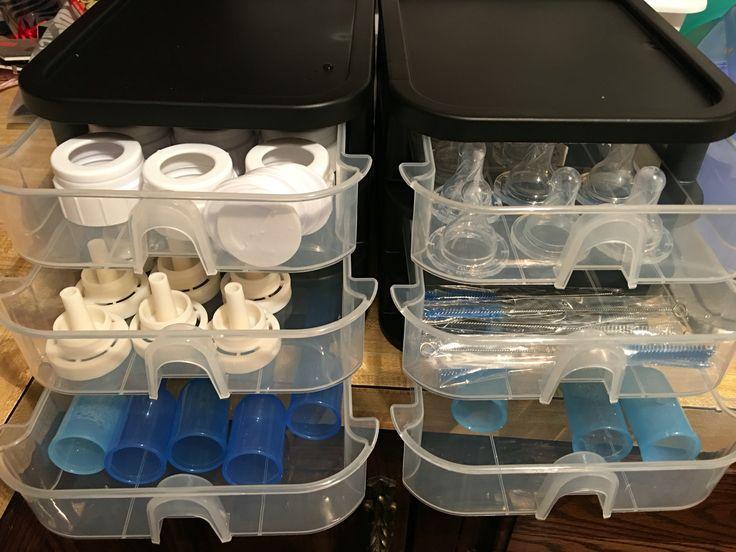 Organizing Dr. Brown's bottles More