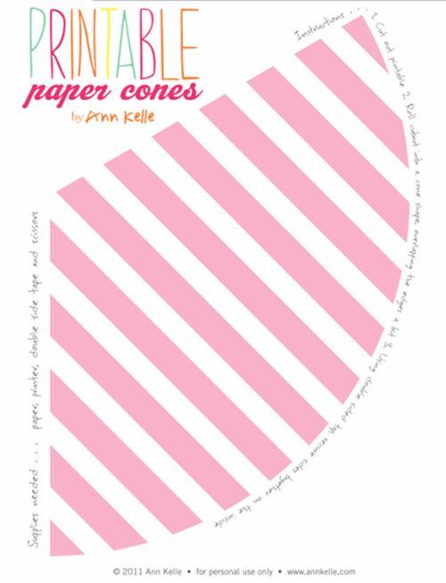 Chuches en conos de colores para fiestas