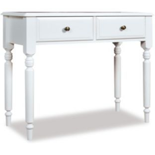 buy cadogan dressing table with 2 drawers off white at. Black Bedroom Furniture Sets. Home Design Ideas