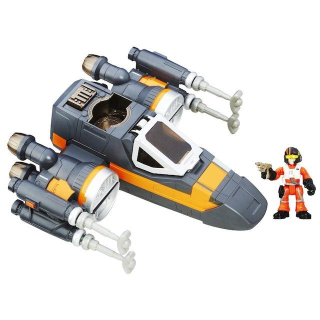 Star Wars Galactic Heroes 2.5 inch Poe Dameron and Poe's X-Wing Fighter