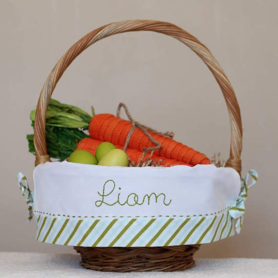 The 25 best pre made easter baskets ideas on pinterest kid pre order 2018 personalized easter basket monogrammed easter negle Image collections