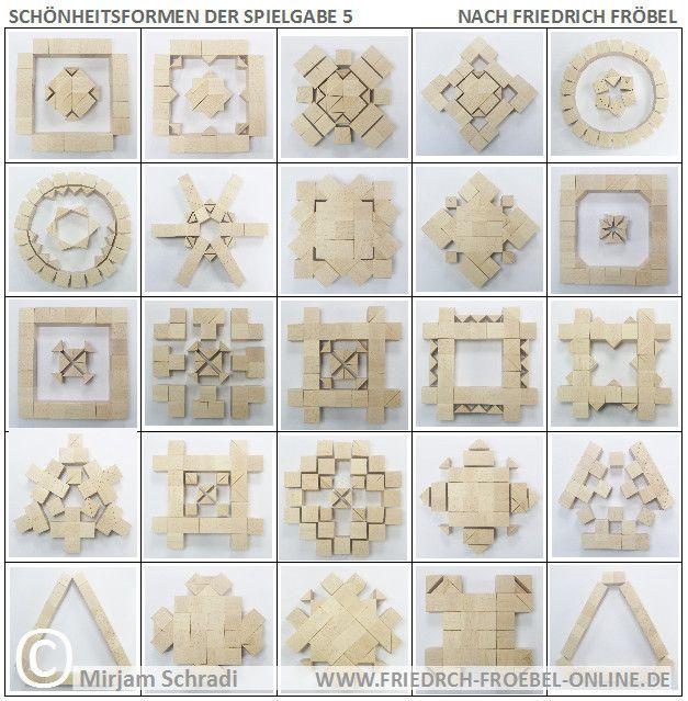 Friedrich Fröbel Spielgaben Spielgabe 5 Schönheitsformen Forms of Beauty Mandalas aus Bausteinen