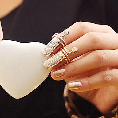 elegante anel de dedo full-cristal das mulheres (cor aleatória) de 2015 por €7.20