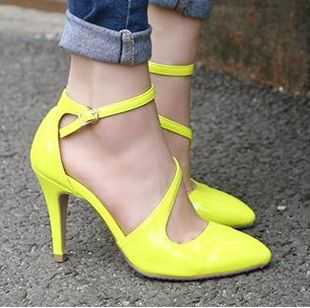 2014 Hot New Women's High Heel Ankle Strap Sandal Shoes