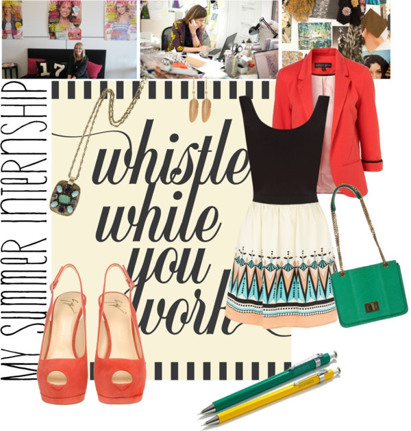 """My Summer Internship: Fashion Magazine"" by hay3leyrose ❤ liked on Polyvore"