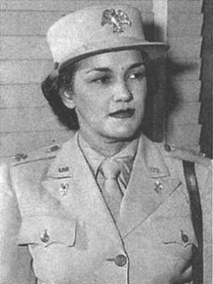A Top-Ranking Black Female Officer  Harriet M. Waddy: She was one of the two highest-ranking black officers in the women's Army Corps in World War II. She said that joining the segregated military ''and accepting a situation which does not represent an ideal of democracy'' was not ''a retreat from our fight'' but ''our contribution to its realization,'' according to the New York Times. Before entering the military, she was an aide to Mary McLeod Bethune.