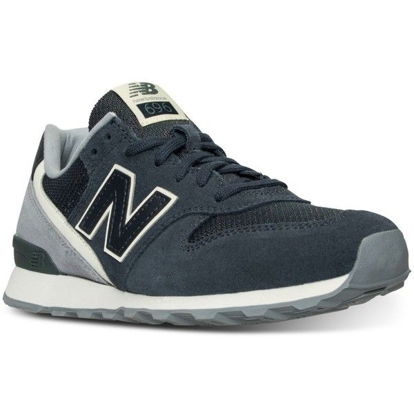 New Balance Women's 696 Winter Seaside Casual Sneakers from Finish... ($80) ❤ liked on Polyvore featuring shoes, sneakers, vintage style shoes, new balance, new balance footwear, new balance sneakers and new balance trainers