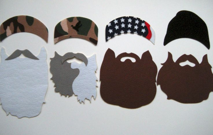 Duck Dynasty photo booth props on a stick by KittyDuneCuts on Etsy, $25.00