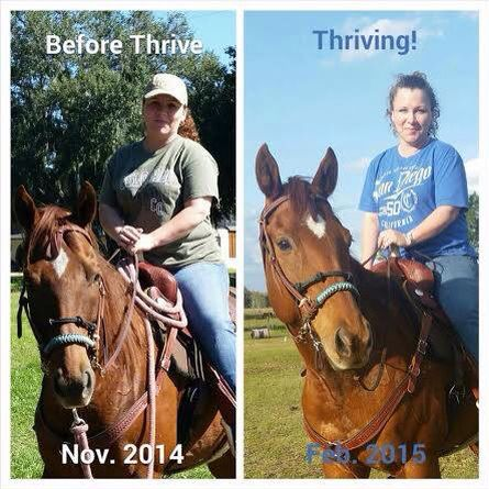 Before and after Thrive the premium lifestyle products.http://amberbdoucet.le-vel.com
