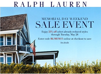 memorial day sale saks