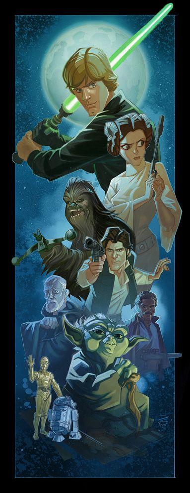 Hermosa ilustración de Star Wars por el dibujantePatrick Schoenmaker