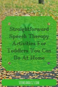 Straightforward Speech Therapy Activities For Toddlers You Can Do At Home #ParentingToddlers