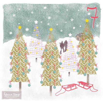 Christmas Advent Challenge - Day 7 - Winter Wonderland by Rebecca Stoner www.rebeccastoner.co.uk