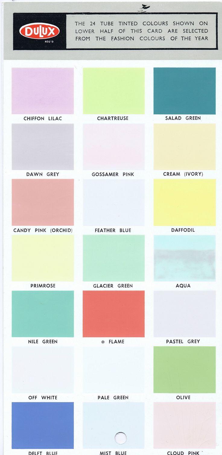 Original Dulux 1950 39 S 1960 39 S Colour Card Colours Are Not