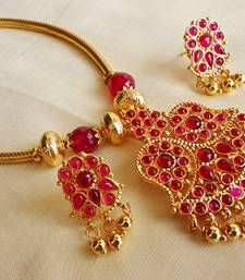 Buy red Ruby necklace-sets necklace-set online at http://www.mirraw.com/designers/aaparnam/designs/red-ruby-necklace-sets--14