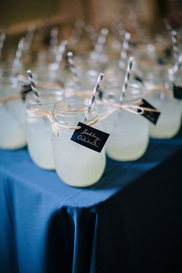 Mason Jar Wedding Glasses  | PHOTO SOURCE • BROOKE IMAGES | Featured on WedLoft