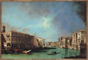 Giovanni Antonio Canal, detto il Canaletto, Il Canal Grande dalle prossimità del ponte di Rialto verso nord 1725, Olio su tela, 91 x 135 cm