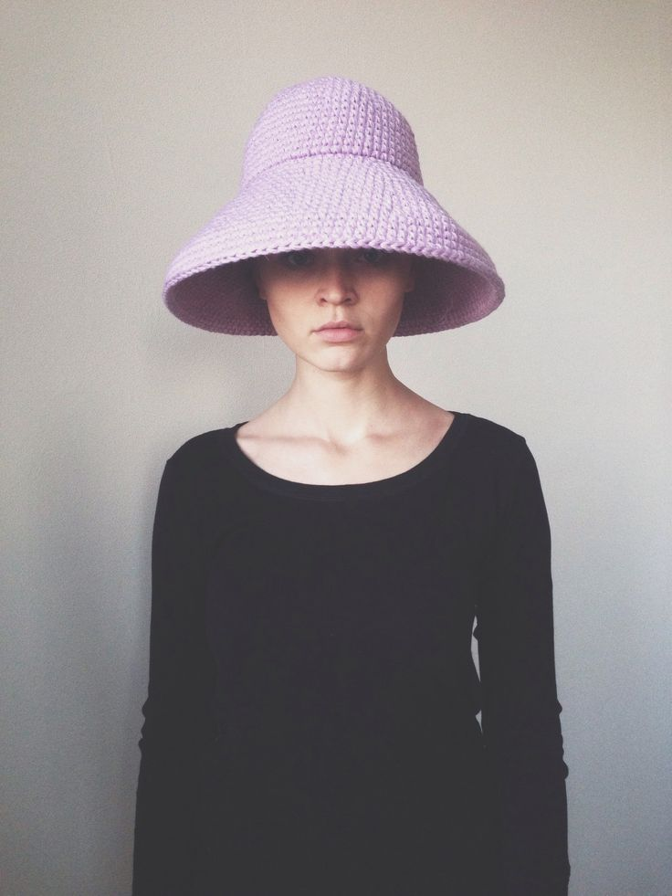 Lavender Crochet  wool hat by cyxodol. Fall winter 2015 2016 fashion knitwear knit accessories