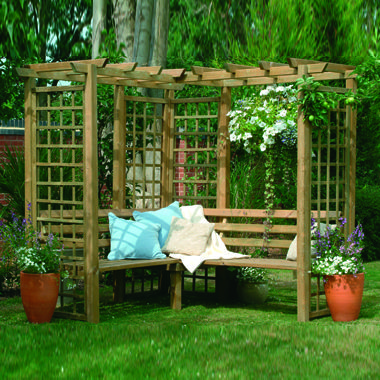 Corner Arbour | Arches | Trellis | Arches | Arbours For Sale At GardenEco | Buy Arches and Arbours Online in the UK