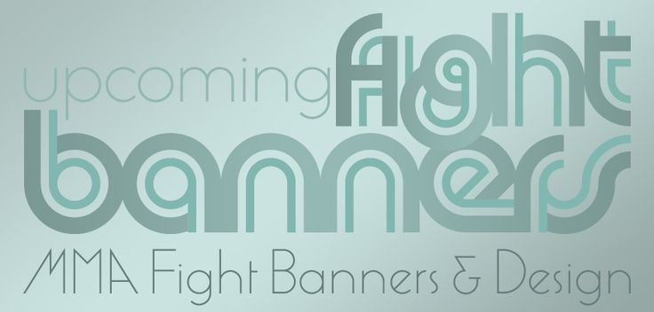 Upcoming #UFC fight banner designs.