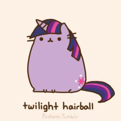 Pusheen as twilight hairball (MLP: FiM)