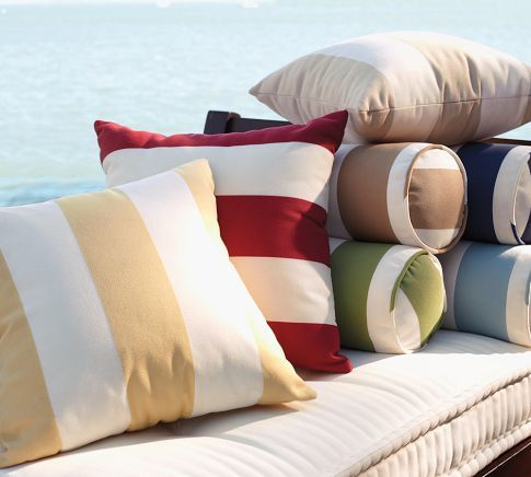 PB Classic Stripe Outdoor Pillow | Pottery Barn: Pb Classic, Red Stripes, Outdoor Pillows, Outdoor Rooms, Outdoor Cushions, Throw Pillows, Classic Stripes, Stripes Outdoor, Pottery Barns