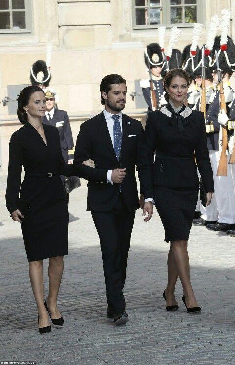 Princess Sofia of Sweden, Princess Madeleine of Sweden, Prince Carl Philip of Sweden attend the opening of the Swedish Parliament. September 13 2016