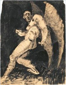 Antoine Bourdelle, Homme ailé, vers 1883, Plume et lavis d'encre de Chine - 32,4 x 25,2 cm, Paris, Musée Bourdelle  Photo : Musée Bourdelle/Roger-Viollet