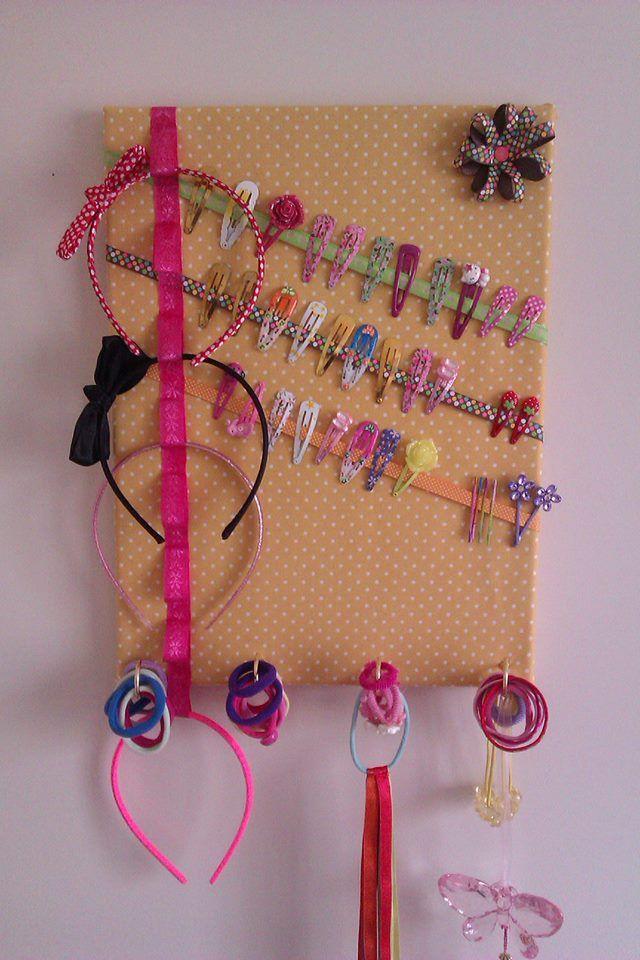 Headband/clip holder to DIY