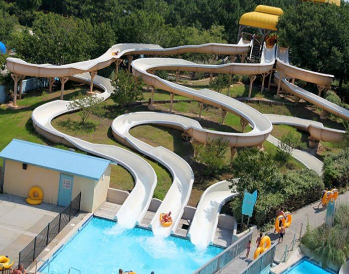 Put Myrtle Waves Water Park on your list of things to do this summer in Myrtle Beach, South Carolina! Snake Mountain features three serpentine inner tube slides! Click on the pin for more info and additional water parks in the Myrtle Beach area.