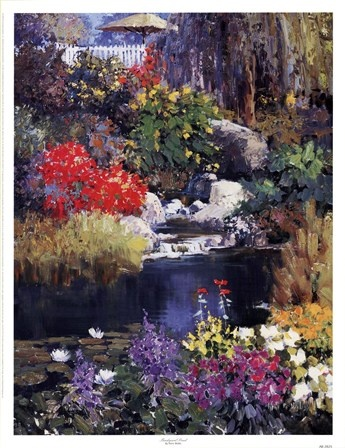 109 best images about kent wallis paintings on pinterest for Garden pond kent
