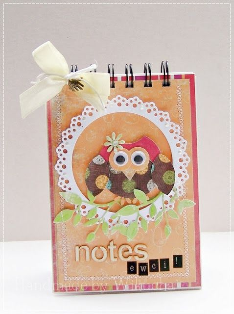notebook with owl