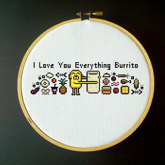 Adventure Time Cross Stitch PDF Pattern I Love You par LadyBeta