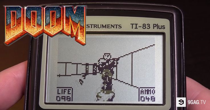 "How To Play ""Doom"" On A Monochrome Graphing Calculator! - 9GAG.tv"