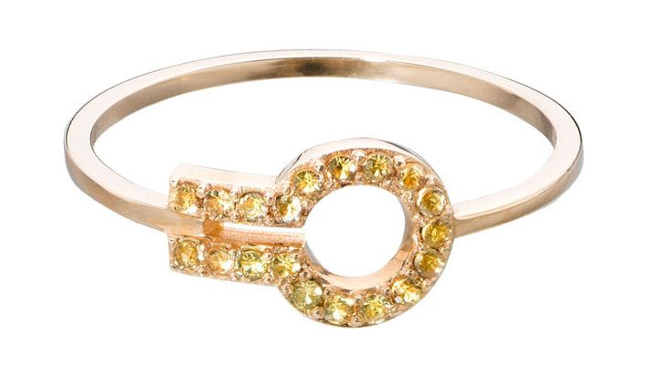 MAGIC WINDOW from Liza Belachew 18KYG and yellow sapphire
