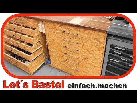 1/3) Werkstattschrank mit Schubladen selber machen. Einfach ...