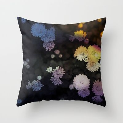 Whisper/花語  Throw Pillow by Katherine Song  - $20.00